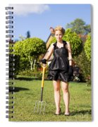 Do It Yourself Gardening Lady Spiral Notebook