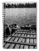 Dock At Island Lake Spiral Notebook