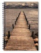 Dock On Mountain Lake Spiral Notebook