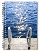 Dock On Summer Lake With Sparkling Water Spiral Notebook