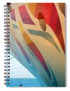 Docked At A Pier Spiral Notebook