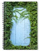 Door Framed By Plants Spiral Notebook