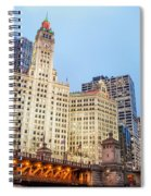 Downtown Chicago View Spiral Notebook