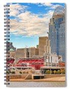 Downtown Cincinnati Pano1 Spiral Notebook