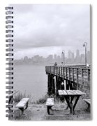 Downtown Seattle As Seen From Alki Beach Spiral Notebook