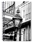 Dressed For The Party- Bw Spiral Notebook