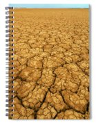 Dry Cracked Earth Spiral Notebook