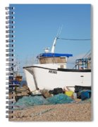 Dungeness Fishing Boats Spiral Notebook