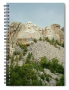 Dusk At Mount Rushmore Spiral Notebook