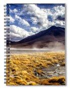 Dusty Desert Road Bolivia Spiral Notebook