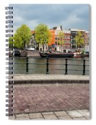 Dutch Houses By The Amstel River In Amsterdam Spiral Notebook