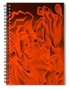E Vincent Orange Spiral Notebook