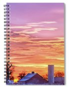 Early Country Morning Sunrise Spiral Notebook