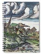 Earthquake, 1550 Spiral Notebook