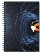Earths Magnetic Field Spiral Notebook