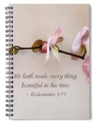 Ecclesiastes 3 11 He Hath Made Everything Beautiful Spiral Notebook