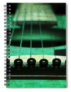 Edgy Abstract Eclectic Guitar 15 Spiral Notebook