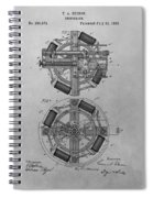 Edison's Phonograph Patent Spiral Notebook