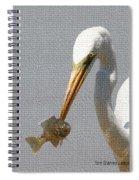 Egret Eats Fish Spiral Notebook