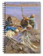 Egyptians Raising Water From The Nile Spiral Notebook