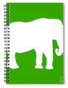 Elephant In Green And White Spiral Notebook