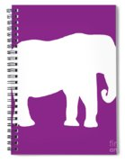 Elephant In Purple And White Spiral Notebook