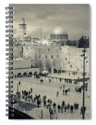 Elevated View Of The Western Wall Spiral Notebook