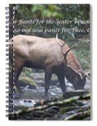 Elk Drinking Water From A Stream Spiral Notebook