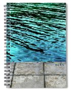 Empty Pier And River Water Spiral Notebook