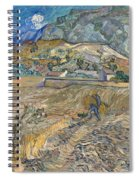 Enclosed Wheat Field With Peasant  Spiral Notebook