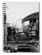 End Of The Line In Black And White Spiral Notebook