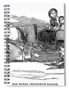 England Royal Sledge, 1854 Spiral Notebook