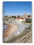Estoril Beach In Portugal Spiral Notebook
