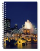 Evening At Buckingham Fountain - Chicago Spiral Notebook
