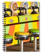 Evergreen State Fair Midway Game With Coloful Stools And Squirt  Spiral Notebook