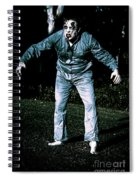 Evil Dead Horror Zombie Walking Undead In Cemetery Spiral Notebook