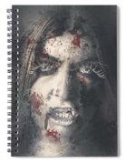 Evil Dead Vampire Woman Looking In Bloody Window Spiral Notebook