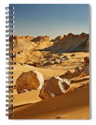 Expressive Landscape With Mountains In Egyptian Desert  Spiral Notebook