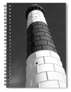 Eying Big Sable Bw Spiral Notebook