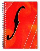 F Hole Abstract Spiral Notebook