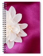 Fabric Flower Spiral Notebook