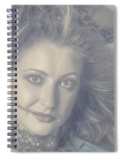 Face Of Beautiful Woman In Makeup Close-up Spiral Notebook