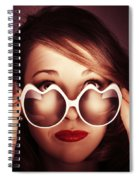 Face Of Cool Fashion Woman In Retro Summer Love Spiral Notebook