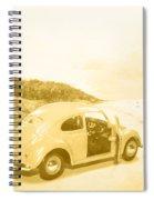Faded Film Surfing Memories Spiral Notebook