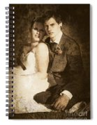 Faded Vintage Wedding Photograph Spiral Notebook