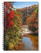 Fall Along The Linville River Spiral Notebook