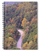 Fall Drive In The Smokies Spiral Notebook