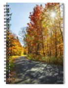 Fall Forest Road Spiral Notebook