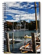 Fall In The Harbor Spiral Notebook