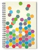 Falling Down Spiral Notebook